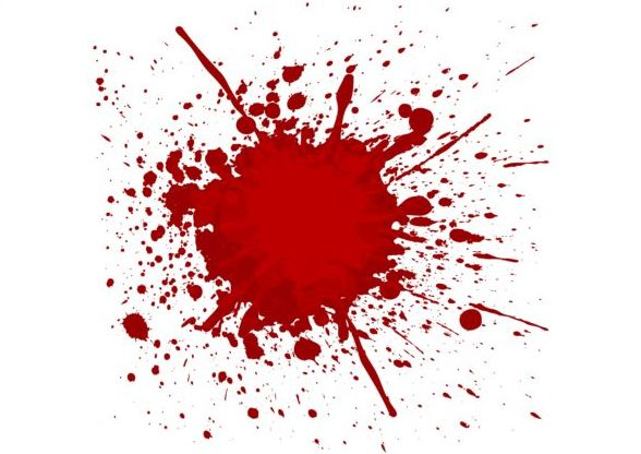 Splashing blood effect vector background 05 - Vector
