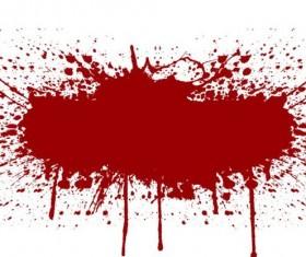 Splashing blood effect vector background 06