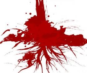 Splashing blood effect vector background 07