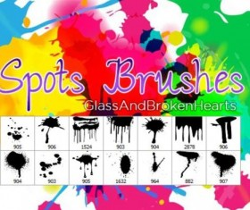 Spots photoshop brushes