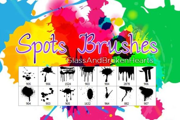 Spots photoshop brushes