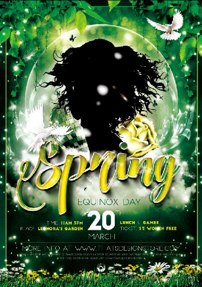 Spring Flyer PSD Template free download