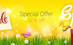 Spring special offer banners vector 01
