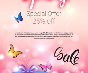 Spring special offer sale template vector 01