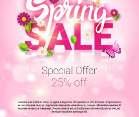 Spring special offer sale template vector 03