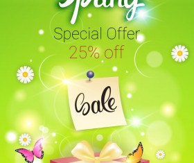 Spring special offer sale template vector 04