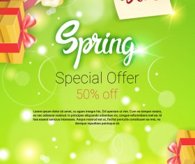 Spring special offer sale template vector 05