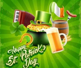 St.Patricks Day poster template vector 03