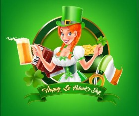 St.Patricks Day poster template vector 06