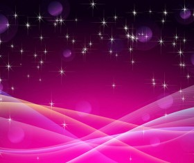 Star light with pink wavy background vector