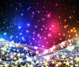 Star shiny background with abstract vector material