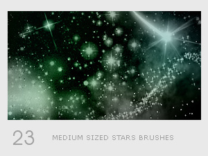 Stars light photoshop brushes