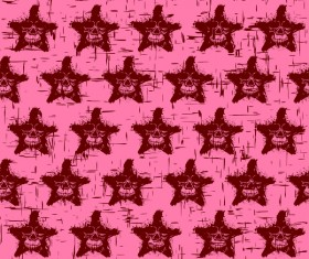 Stars with skull with seamless pattern vector