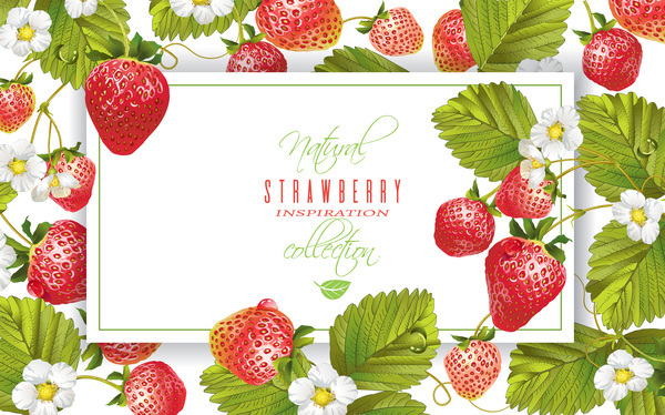 Strawberry frame vector material free download