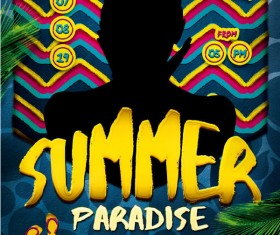 Summer Paradise Flyer Psd Template