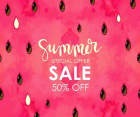 Summer sale background with gem vector 03