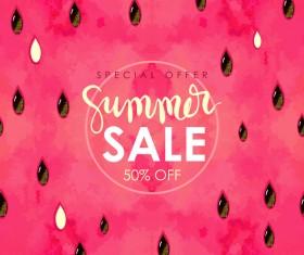 Summer sale background with gem vector 04
