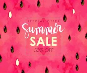 Summer sale background with gem vector 05