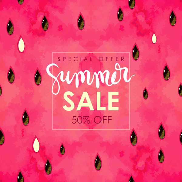 Summer sale background with gem vector 05