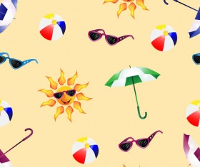 Summer travel pattern seamless vector material