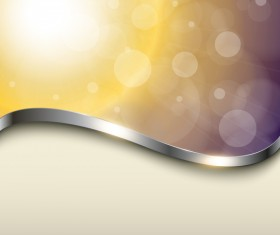 Sunlight background with metal decorative vector