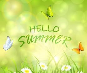 Sunny summer background creative vector