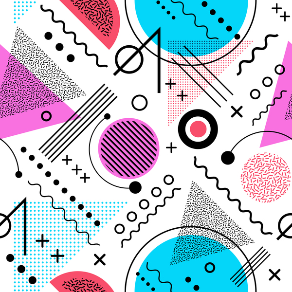 Symbol and abstract seamless pattern vector 10