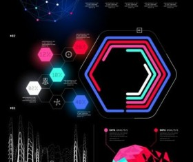 Technical element with business infographic template vector 03