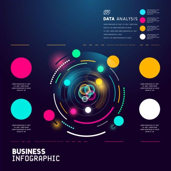 Technical element with business infographic template vector 04