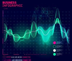 Technical element with business infographic template vector 06