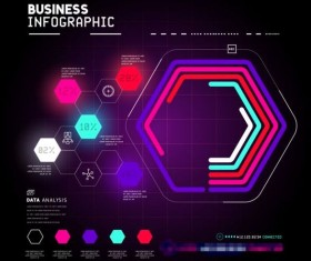 Technical element with business infographic template vector 07