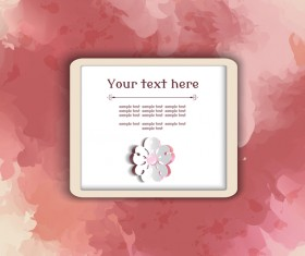 Text frame with watercolor drawn vectors 01