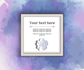 Text frame with watercolor drawn vectors 02