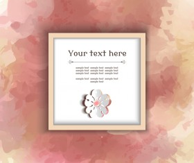 Text frame with watercolor drawn vectors 03