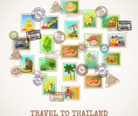 Thailand travel vector material