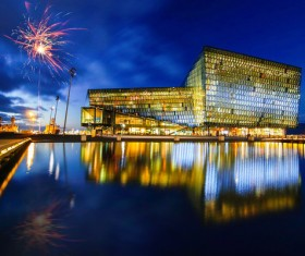 The beautiful Reykjavik HAPA Concert Hall Stock Photo