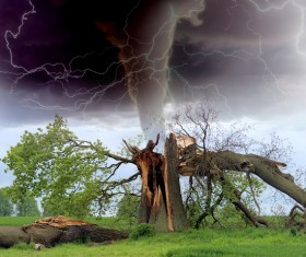Tornado hazards Stock Photo 01
