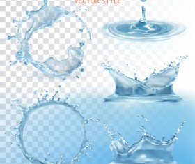 Transparent water splash effect vector illustration 10