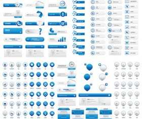 User buttons light blue vector