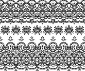 Vector lace borders black design 01