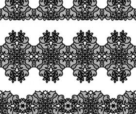 Vector lace borders black design 02