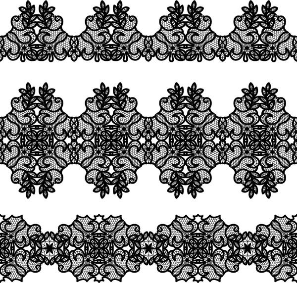 Vector lace borders black design 02 - Vector Floral free ...