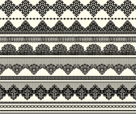 Vector lace borders black design 03