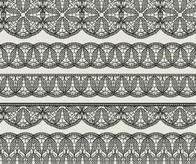 Vector lace borders black design 04