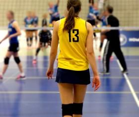 Volleyball Match Stock Photo