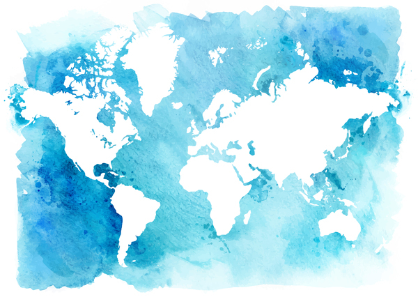Watercolor world map vector 03 free download watercolor world map vector 03 gumiabroncs Choice Image