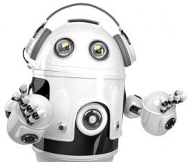White robots Stock Photo