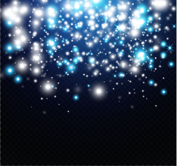 White with blue light dots background vector