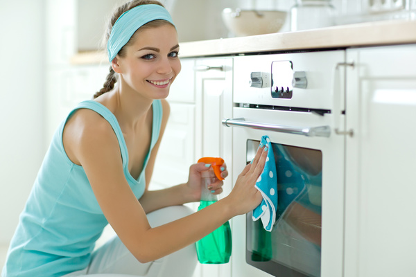 Woman doing housework cleanup Stock Photo 06 free download