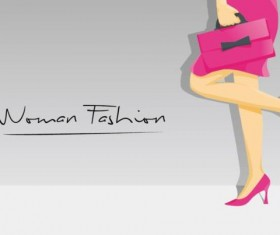 Woman fashion background vector design 02